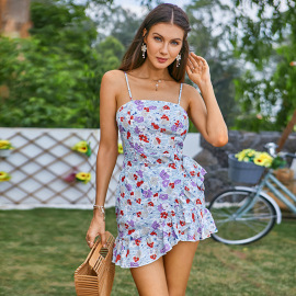 Women's Tube Top Lace Ruffled Halter Dress Nihaostyles Clothing Wholesale NSWX79977