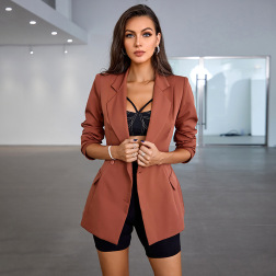 Women's Single-breasted Open Back Blazer Nihaostyles Clothing Wholesale NSWX79981