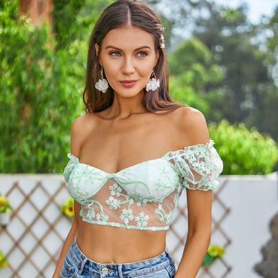 Women's Off-shoulder Lace Camisole Nihaostyles Clothing Wholesale NSWX79991