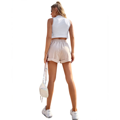 Women's Loose High Waist Slim Shorts Nihaostyles Wholesale Clothing NSJM79996