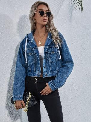 Autumn And Winter Women's Slimming Short Denim Jacket Nihaostyles Wholesale Clothing NSJM79998