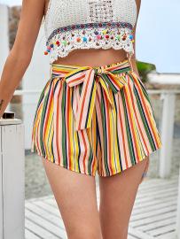Women's Loose Style Striped Shorts Nihaostyles Wholesale Clothing NSJM80006