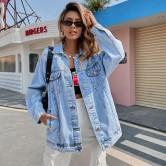 Women's Denim Short Jacket With Pockets Nihaostyles Wholesale Clothing NSJM80009