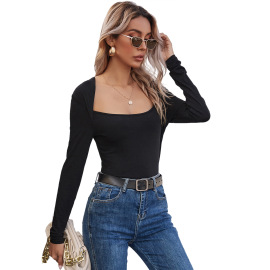 Women's Narrow Neckline Slim T-shirt Nihaostyles Clothing Wholesale NSJM80038