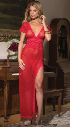 Women's Mesh Nightdress Pajamas Nihaostyles Wholesale Clothing NSFQQ80074