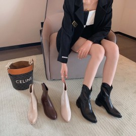 Spring And Autumn Women's Pointed Toe Thick Heel High Tube Knight Boots Nihaostyles Wholesale Clothing NSCA80087