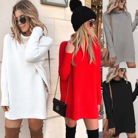 Women's Round Neck Casual Long-sleeved Dress Nihaostyles Wholesale Clothing NSXMI80854