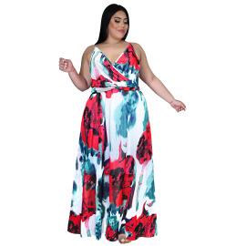 Women's Sling Floral Bohemian Chiffon Dress Nihaostyles Clothing Wholesale NSBMF80105