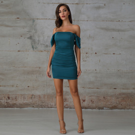 Off-shoulder Strapless Tight-fitting Dress Nihaostyles Clothing Wholesale NSWX80113