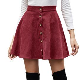 Women's Corduroy High Waist Skirt Nihaostyles Clothing Wholesale NSJM80151