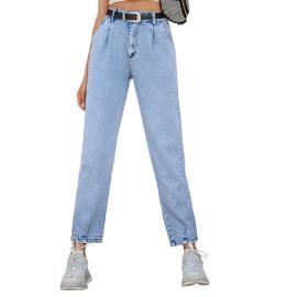 Women's High-waist Denim Trousers Nihaostyles Clothing Wholesale NSJM80152