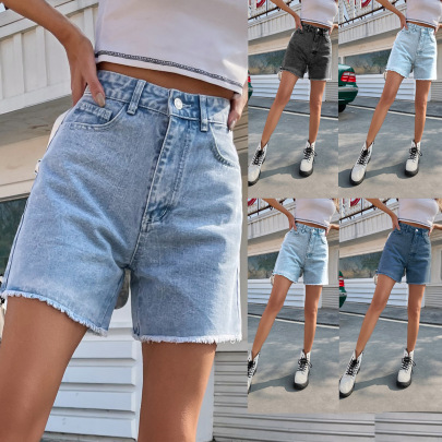Women's High Waist Loose Slimming Denim Shorts Nihaostyles Clothing Wholesale NSJM80159