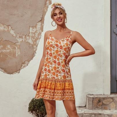 Women's Floral Sling Dress Nihaostyles Clothing Wholesale NSJM80170