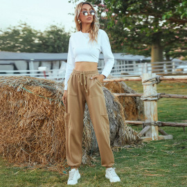 Women's High Waist Multi-pocket Pants Nihaostyles Clothing Wholesale NSJM80172
