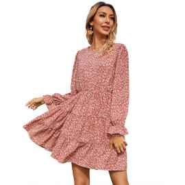 Women's Ruffled Floral Dress Nihaostyles Clothing Wholesale NSJM80179