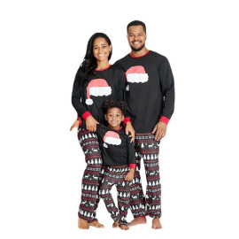 Women's Christmas Print Long-sleeved Pajamas Nihaostyles Wholesale Christmas Costumes NSXPF80200
