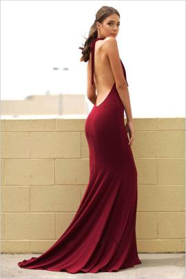 Autumn Women's Sleeveless Halterneck Backless Package Hip Elegant Dress Nihaostyles Wholesale Clothing NSYIS80866