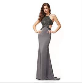 Women's Halterneck Backless Package Hip Mopping Evening Dress Nihaostyles Wholesale Clothing NSYIS80842
