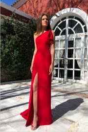 Autumn And Winter Women's Slanted Off-shoulder Sleeveless Split Dress Nihaostyles Wholesale Clothing NSYIS80844