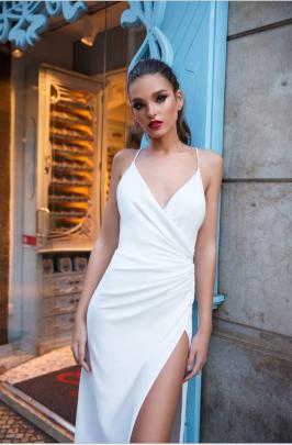 Summer Women's V-neck Strap Backless Slitted Dress Nihaostyles Wholesale Clothing NSYIS80840