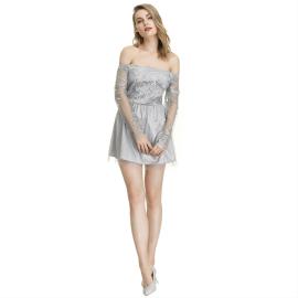 Women's Off-shoulder Tube Top Lace Short Dress Nihaostyles Wholesale Clothing NSYIS80774