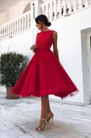 Women's Round Neck Sleeveless Backless Chiffon Dress Nihaostyles Wholesale Clothing NSYIS80775