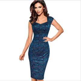 Autumn Women's Lace Floral Print Slim Package Hip Dress Nihaostyles Wholesale Clothing NSYIS80776