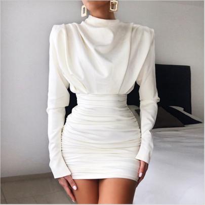 Winter Women's Long-sleeved Slim Package Hip Short Dress Nihaostyles Wholesale Clothing NSYIS80758
