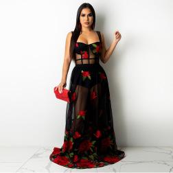 women's sling embroidery dress nihaostyles clothing wholesale NSCYF80204