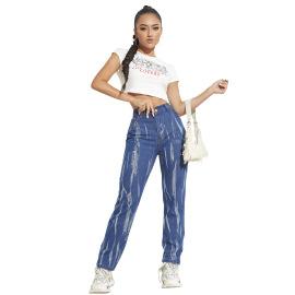 Women's Tie-dye High-waist Straight Jeans Nihaostyles Clothing Wholesale NSJM80252