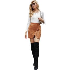 Women's Irregular Button High Waist Skirt Nihaostyles Clothing Wholesale NSJM80255