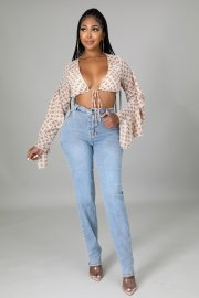 Women's Waist Hollow Stretch Jeans Nihaostyles Clothing Wholesale NSTH80258