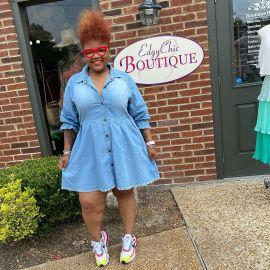 Women's Long-sleeved Denim Dress Nihaostyles Clothing Wholesale NSTH80263