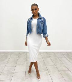 Women's Denim Short Slim Jacket Nihaostyles Clothing Wholesale NSTH80266