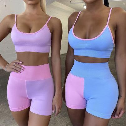 Women's Yoga Bra And Shorts Nihaostyles Clothing Wholesale NSXER80280