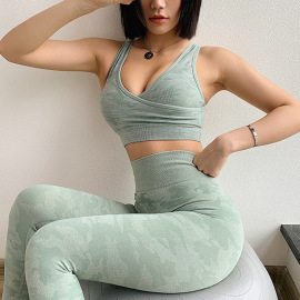 Women's Camouflage Print Yoga Vest Nihaostyles Clothing Wholesale NSXER80281