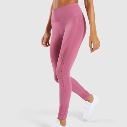 Women's High Waist Hollow Yoga Pants Nihaostyles Clothing Wholesale NSXER80286