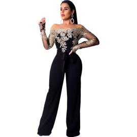 Women's Strapless Embroidery Wide-leg Jumpsuit Nihaostyles Clothing Wholesale NSCYF80293