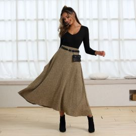 Women's Woolen Mid-length Skirt Nihaostyles Clothing Wholesale NSJM80299
