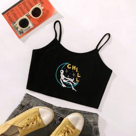 Women's Print Crop Camisole Nihaostyles Clothing Wholesale NSJM80307