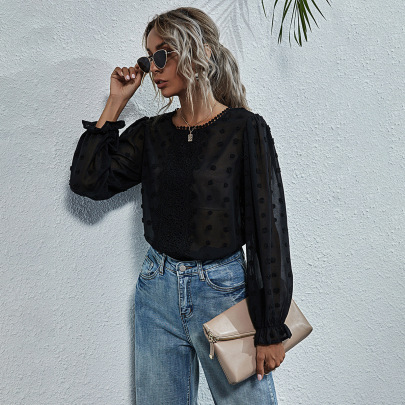 Women's Loose Embroidered Long Sleeve Shirt Nihaostyles Clothing Wholesale NSJM80310