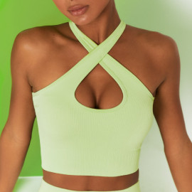 Women's Seamless Knitted Thread Cross Yoga Underwear Nihaostyles Clothing Wholesale NSXER80328