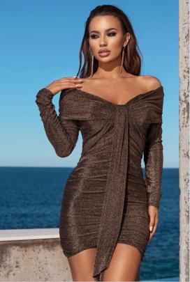 Autumn Women's V-neck Slim Long Sleeve Package Hip Dress Nihaostyles Wholesale Clothing NSYIS80762