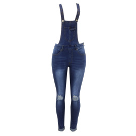 Women's Ripped Hip-lifting Suspenders Jeans Nihaostyles Clothing Wholesale NSYB77017