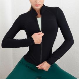 Women's High Stretch Zipper Long-sleeved Top Nihaostyles Clothing Wholesale NSSMA77034