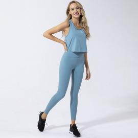 Women's Bra Vest Tight Pants Three-piece Running Suit Nihaostyles Clothing Wholesale NSSMA77035