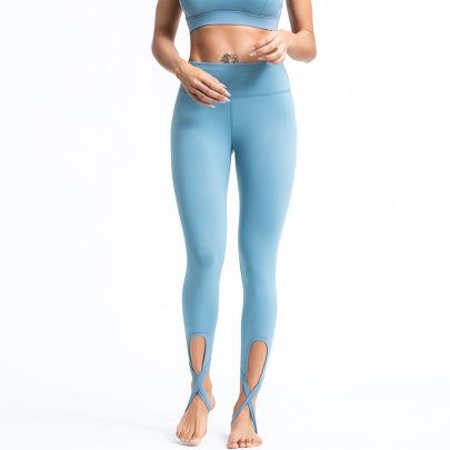 Women's High Waist Yoga Pants Nihaostyles Clothing Wholesale NSSMA77042