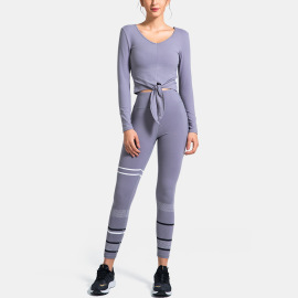 Women's Long-sleeved Sports Tops Quick-drying Yoga Pants Nihaostyles Clothing Wholesale NSSMA77043