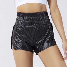 Women's High Waist Yoga Shorts Nihaostyles Clothing Wholesale NSSMA77045