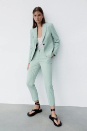 Slim Long-sleeved Lapel One-button Slim Blazer Nihaostyles Clothing Wholesale NSXPF77072
